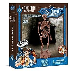 Dr Steve Hunters 91041BF Caveman Kit de excavación para tío Milton Juguete Educativo científico