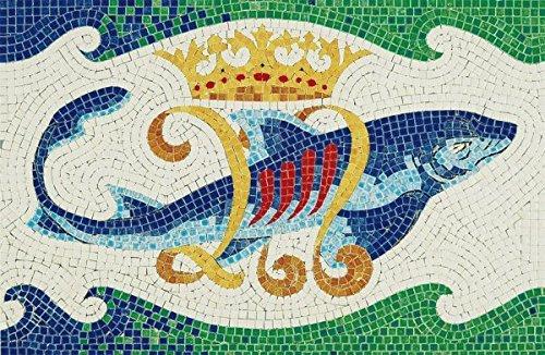 Ceramic Model - Mosaic - Enameled Ceramic - Dolphin
