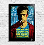 Tyler Durden (Brad Pitt) du film Fight Club - Illustration Originale Encadrée, Pop-Art Peinture, Presse Artistique, Poster, Toile Imprimée, Image sur Toile, Affiche d'Art, Affiche de Film