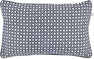Dutch Decor Anke Coussin en coton/polyester Bleu foncé 30x50cm