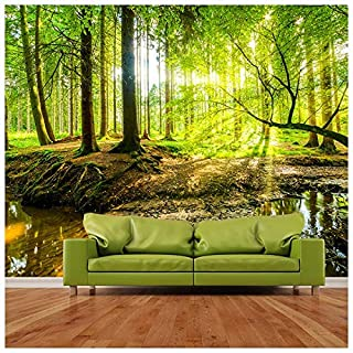 azutura Green Tree Wall Mural Forest Landscape Photo Wallpaper Living Room Bedroom Decor available in 8 Sizes X-Large Digital