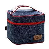 TININNA Mode Denim lunchpaket Isolierte Lunchpaket mit Reißverschluss Box Isolierung Tasche...