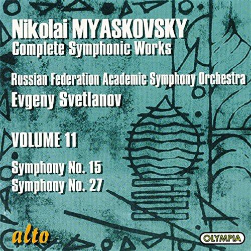 Myaskovsky:symphonies Nos. 15 In D Minor, Op.38 & 27 In C Minor, Op. 85