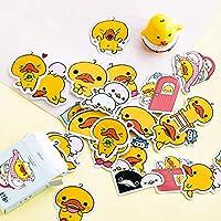 uyfrtdredswes 45pcs box Yellow Duck Mini Decorateative Stickers Scrapbooking Diary Album Stick Label Decorate Student Supply