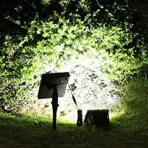 Bluelover Solar Power 40 LED Path Spot Wall Mount Outdoor Lawn Light-White