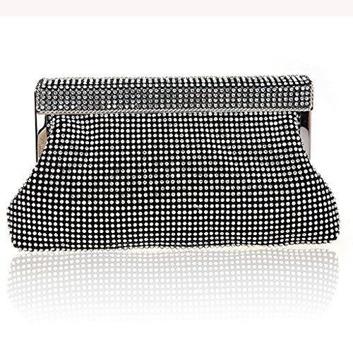 La borsa da sposa abiti borsa borsa nuova borsa da sera di banchetto borsa a mano di diamante della moda ( Colore : Nero ) Nero