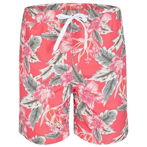 Soul Star imprimé Floral Short de bain pour homme Rose - Corail