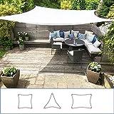 Clara Shade Sails - Vela Tenda Parasole da Giardino/Veranda Premium Sun, 98% Protezione UV, Impermeabile Blanco (Square 3.6m)