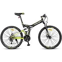 Vélo Pliant pour Adulte, Vélo de Montagne de 26 Pouces, Vélo de Route Pliable à Vitesse Variable à 24 Vitesses, Vélo de…