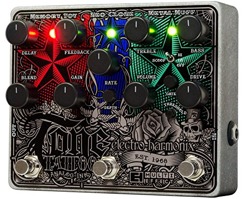Electro Harmonix 665217efecto de guitarra eléctrica con sintetizador Filtro Tone Tattoo