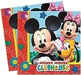 Gabbiano 20 Mickey Mouse Club House Servietten Disney, 33x33