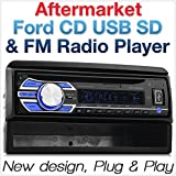 Tunez Ford Focus Transit Connect Cougar Explorer Fiesta Mondeo Puma Auto CD USB Player FM Radio Radioblende Stereo Single 1 DIN MP3