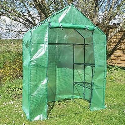 Foliengewächshaus begehbar Treibhaus Tomatenhaus Folienzelt WK5 - 71 x 142 x 194 cm von Bellarini auf Du und dein Garten