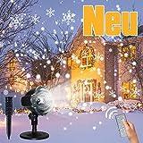 Neues LED-Schneeflockenprojektor Weihnachtslicht, CREASHINE® HD Schneeflockenlicht, drahtlose Fernbedienung, weit verbreitet zum Verzieren von Weihnachten, Neujahr, Party