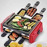 Elektrischer Grill-Grill-Rauchlose Elektrische Kochplatte-Elektrischer Ofen mit Nicht-Stock Teppanyaki-Bratpfanne-Heiße Platten-Käse-Wanne-Innenpartei Für