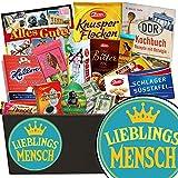 Lieblingsmensch ❤️ Schokolade Geschenkset DDR ❤️ Schokoladen Geschenkset L in edler schwarzer Geschenkbox ❤️ DDR Geldscheine, Zetti Edel Bitter, Halloren ❤️