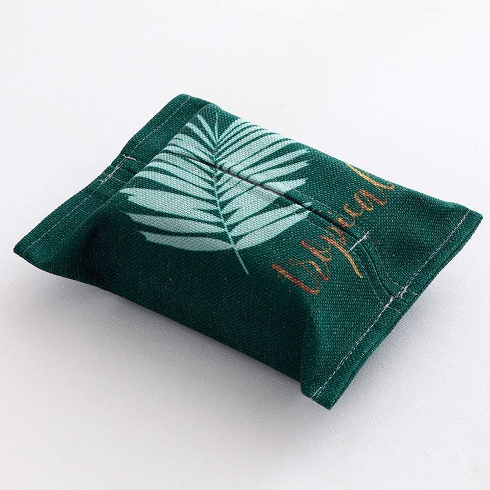 l'atteggiamento migliore la moda più votata buona consistenza SHUCHANGLE Scatola di Stoffa di Stoffa Geometrica Verde Salotto di Carta di  Tovagliolo Creativo di Soggiorno Foglia Creativo, H   CasaMe