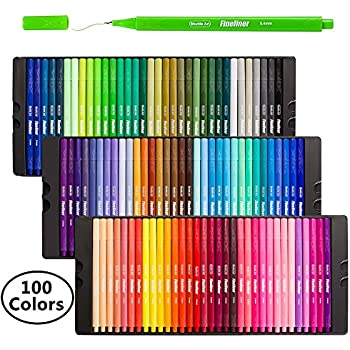 fineliner stifte shuttle art 100 farben fineliner stifte set fein malen stift superfein. Black Bedroom Furniture Sets. Home Design Ideas