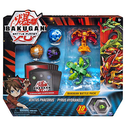 Bakugan 6045132 - Battle Pack mit 5 Bakugan (2 Ultra & 3 Basic Balls) unterschiedliche Varianten