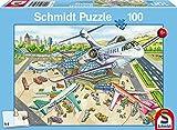 Schmidt Spiele Puzzle 56206 - Standard 100 Teile Ein Tag am Flughafen