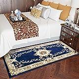 GRENSS Continental Teppichboden Wohnzimmer Sofa Tisch Matte Schlafzimmer mit Etagenbetten und Einem rechteckigen Minimalistischen Modernen idyllischen Amerikanischen Haushalt, 0,8 * 1,5 m, 03B