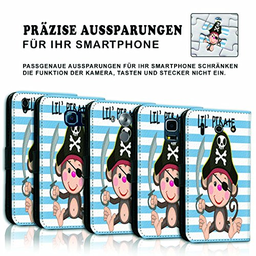 Wallet Book Style Flip Handy Tasche Case Schutz Hülle Schale Motiv Etui für Apple iPhone 5 / 5S - Variante UMV4 Design12 Design 2