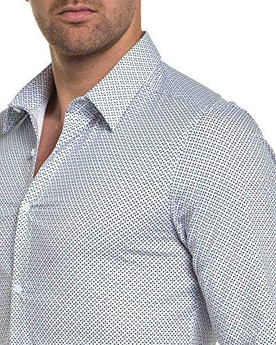 BLZ jeans - Chemise blanche manche longue à motifs Blanc