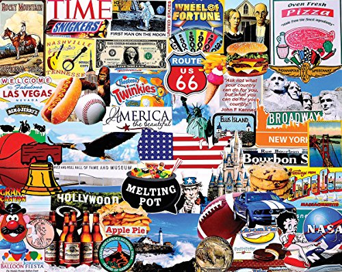 White Mountain Puzzles 1279 Love America - 1000 Stück Puzzle, Mehrfarbig