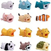 YMHPRIDE 12 Pack Cute Cartoon Animal Cable Protector, Prevents Cable Break Cable Protector Case for iPhone/iPad, Various…