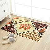 Eingangstür Matte, Foyer Home Tür Teppich Rutschfeste Fußmatten Wohnzimmer Schlafzimmer Bodenmatte Staubentfernung im Haushalt-D-60x90cm(24x35inch)