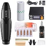 Hawink Rotary Tattoo Machine Kit Professional Tattoo Pen RCA Connected voor Tattoo Artist Corn Black EK136-1