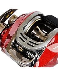 Fladen Maxximus Imán de perfil bajo 6bolas, Mano Izquierda metal Mar Barco carrete de pesca multiplicador con sistema de frenado magnético [11–0802]