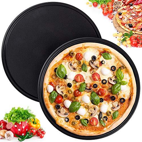 40 Stück Pizzablech Profiqualität Backform Ofenblech rund Ø 26 cm Gastlando