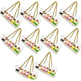Transparent bagerilåda, 10 stycken genomskinlig kaklåda, kaklåda med rep, rektangulär bärbar transparent matförpackningslåda