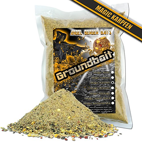 Angel Berger Groundbait Grundfutter Angelfutter verschiedene Sorten (Magic Karpfen 3Kg)
