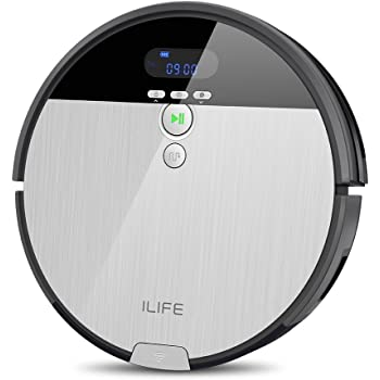 ILIFE V8s Smart Robotic Mop&Vacuum Cleaner with 750ML Big Dustbin, I-Dropping Mopping and Higher Suction Power for Hard Floors