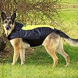 BSEEN Hunde-Regenjacke, verstellbar, leicht, wasserdicht, mit reflektierenden Streifen, für kleine und mittelgroße Hunde, XXXL, grün