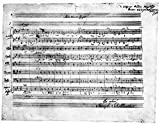 Wolfgang Amadeus Mozart /N(1756-1791). Austrian Composer. Manuscript Of Ave Verum Corpus (K.V. 618) A Motet For Four Voices With String And Organ Accompaniment Written On 18 June 1791 At Baden. Kunstdruck (60,96 x 91,44 cm)