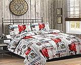 Textile Online 3-Teilig Bettwäsche Bettbezug mit Kopfkissenbezügen Italien SPECIAL Bettwäsche-Set, Doppelbett