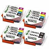 Toner Kingdom Cartuchos de tinta compatibles para HP 364XL uso para HP PhotoSmart 5510 5515 5524 5525 6510 6520 7510 7520 B8550 HP OfficeJet 4620 HP Deskjet 3070A (5Negro 3Cian 3Amarillo 3Magenta)