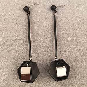 Feuilles pliables baipipi paire chic aush? f forme géométrique boucles d'oreilles pour les femmes