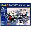 Revell Modellbausatz Flugzeug 1:72 - P-47M Thunderbolt im Maßstab 1:72, Level 4, originalgetreue Nachbildung mit vielen Details, 03984 von Revell