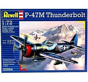 Revell-P-47 M Thunderbolt Maqueta Avión, 10+ Años, Multicolor, 15,6 cm (03984)