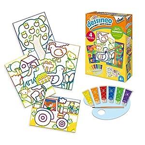 Dessineo- Pintar por Números Granja, Multicolor (Diset 61011)