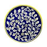 #8: Aurea Blue Pottery Decorative Plate (8