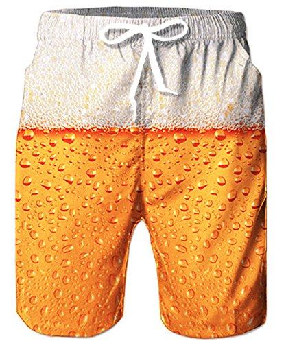 Badehose Herren,Bier Muster Badeshorts Männer,Short Schnelltrocknend Badeshorts