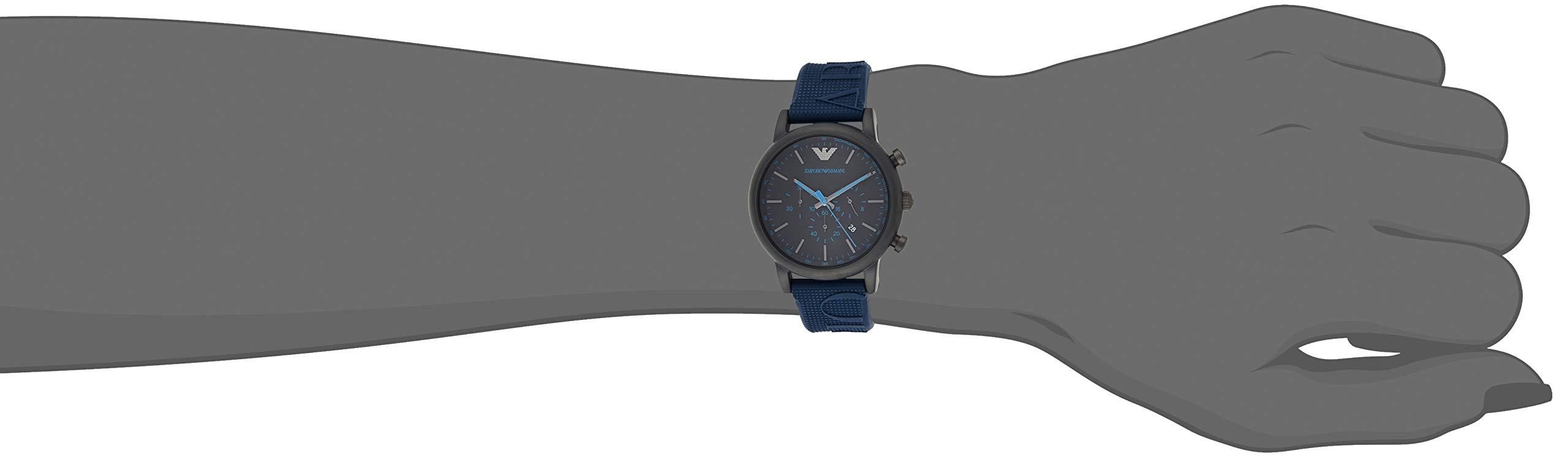 Emporio Armani Reloj Cronógrafo para Hombre de Cuarzo con Correa en Silicona