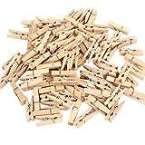 lumanuby 50x de madera Mini pinzas de madera Craft Clips papel fotográfico pinzas DIY Mini fotos pequeñas de madera Clip de pelo natural