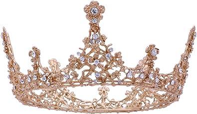 Baroque Vintage Tiara and Crowns for Women Wedding Crystal Queen Brides Crowns