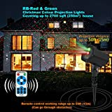 Innoo Tech Projector, InnooLight Red and Green Garden Starry Show, Spot Lights Outdoor with RF Remote for Christmas, Halloween, Holiday Decoration